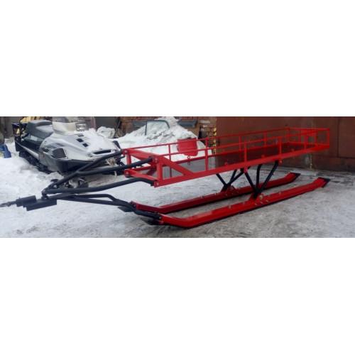 сани - прицеп для снегохода